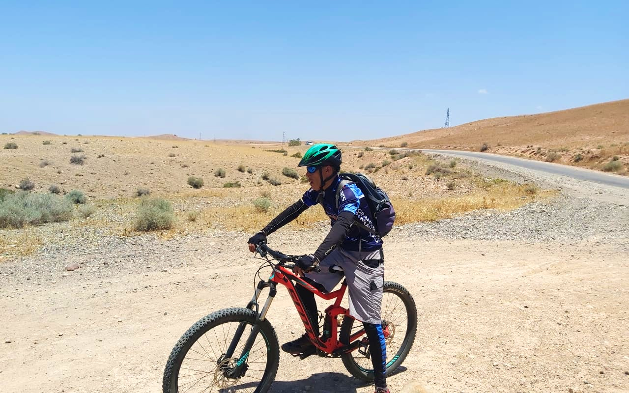 Mountain Biking Across Atlas mountains